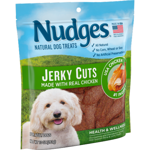 Nudges Natural Jerky Cuts Chicken Dog Treats Perspective: left