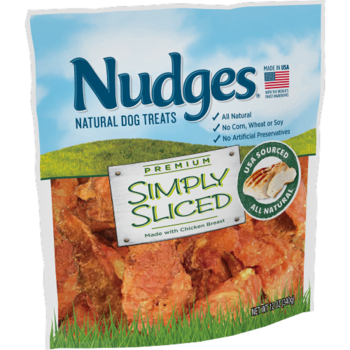 Nudges® Simply Sliced Chicken Breast Natural Dog Treats Perspective: left