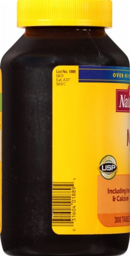 Nature Made Multivitamin Daily Tablets Perspective: left