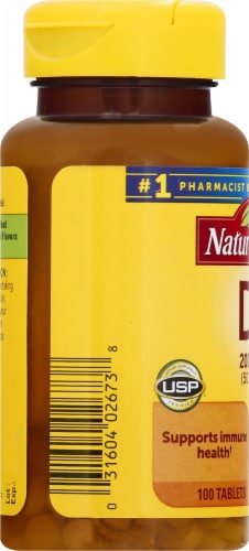 Nature Made Vitamin D3 Tablets 2000IU Perspective: left