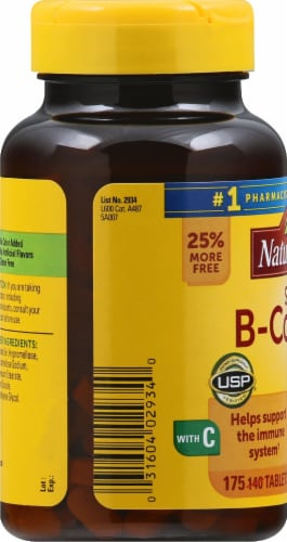 Nature Made Super B-Complex Tablets 175 Count Perspective: left