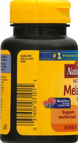 Nature Made Melatonin Tablets 10mg Perspective: left