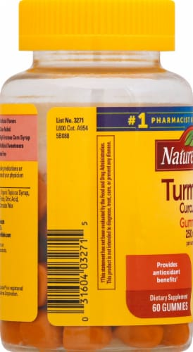 Nature Made Turmeric Curcumin Gummies Perspective: left