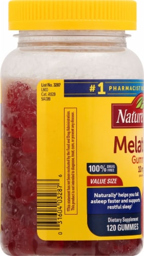 Nature Made Strawberry Melatonin Gummies 10mg Perspective: left