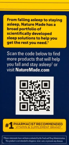 Nature Made Back to Sleep Fast-Dissolve Berry Tablets 200mg Perspective: left