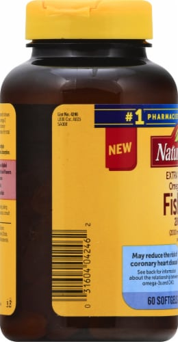 Nature Made Extra Strength Omega-3 Fish Oil Softgels 2800mg Perspective: left