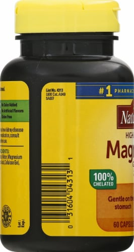 Nature Made Magnesium Glycinate Capsules 200mg Perspective: left