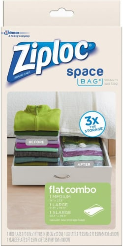 Ziploc Space Bag® Vacuum Seal Storage Bags Perspective: left