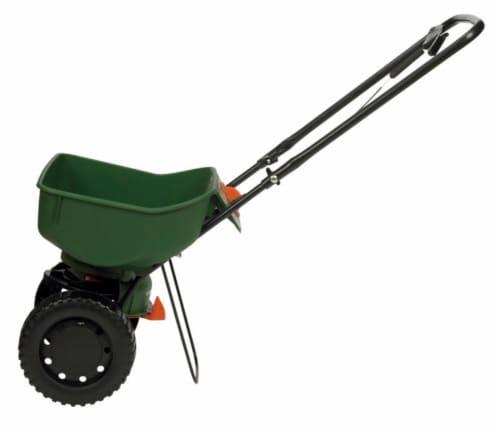 Scotts® Turf Builder EdgeGuard Mini Spreader - Green Perspective: left
