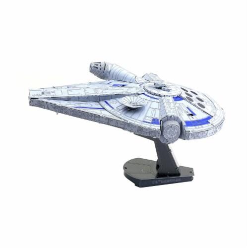 Fascinations Star Wars Lando's Millennium Falcon 3D Metal Model Kit Perspective: left
