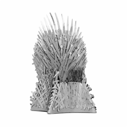 Fascinations Metal Earth ICONX 3D Metal Model Kit Game of Thrones Iron Throne Perspective: left
