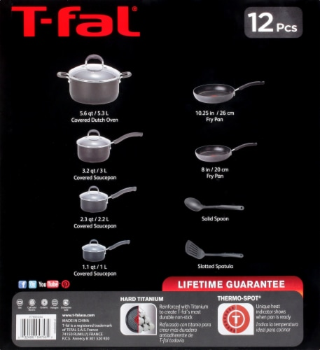 T-Fal Ultimate Hard Anodized Cookware Set - Black Perspective: left