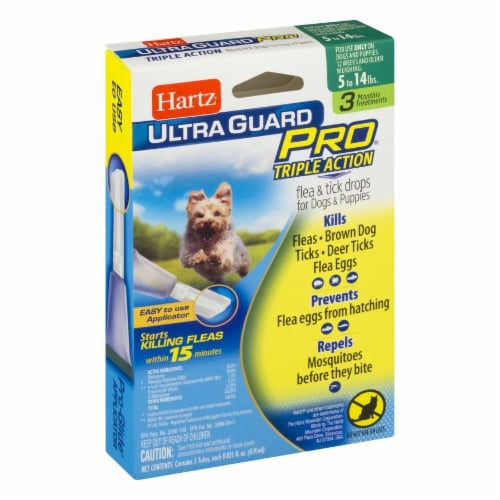 Hartz Ultra Guard Pro Triple Action Flea and Tick Drops for Dogs 5- 14 Lbs Perspective: left