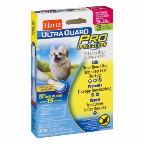Hartz Ultra Guard Pro Triple Action Flea and Tick Drops for Dogs 15-30 Lbs Perspective: left