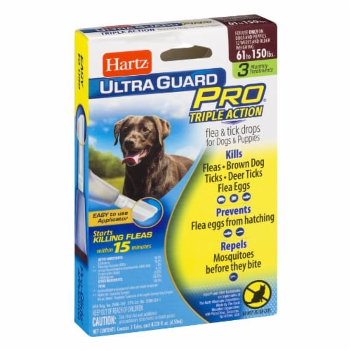 Hartz Ultra Guard Pro Triple Action Flea and Tick Drops for Dogs 61-150 Lbs Perspective: left