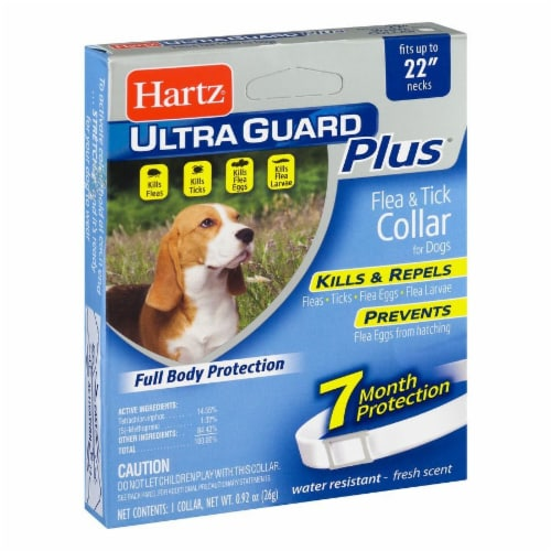 Hartz Ultra Guard Plus Flea and Tick Collar for Dogs Perspective: left