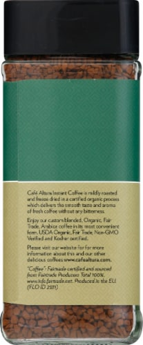 Cafe Altura  Organic Coffee Fair Trade Freeze Dried Perspective: left