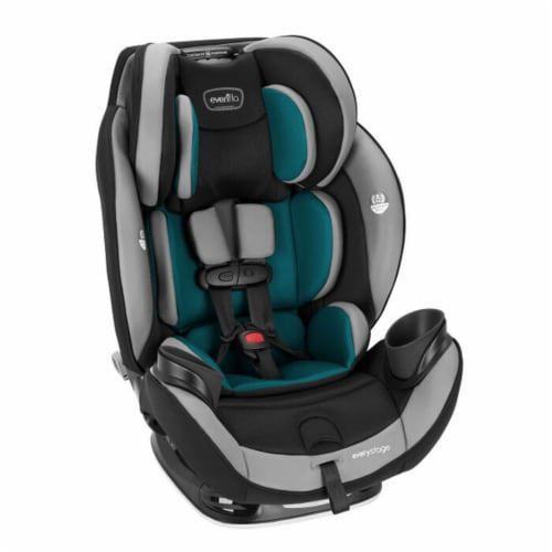 Evenflo EveryStage DLX Rear-Facing Convertible Car and Booster Seat, Reef Blue Perspective: left