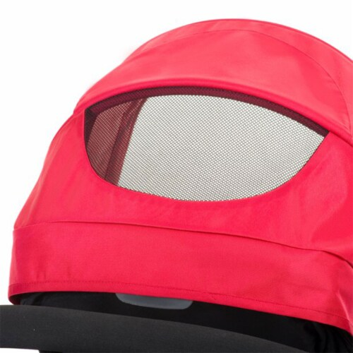 Evenflo Pivot Baby Stroller and Safemax Infant Car Seat Travel System, Red Perspective: left