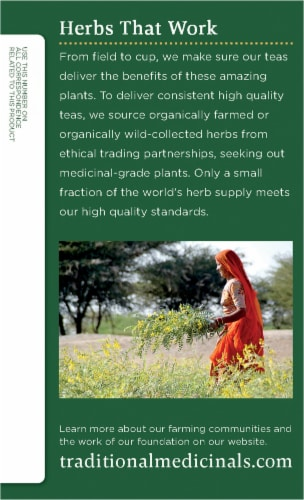 Traditional Medicinals Organic Moringa With Spearmint and Sage Tea Bags 16 Count Perspective: left