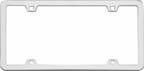 Cruiser Accessories Chrome License Plate Frame - Neo Perspective: left