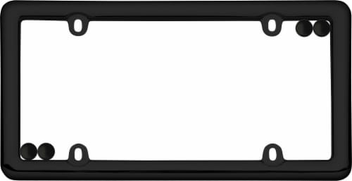 Cruiser Accessories Nouveau License Plate Frame with Fastener Caps - Black Perspective: left