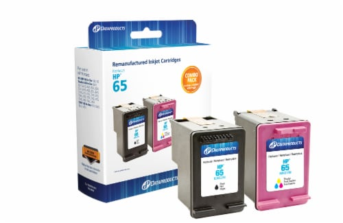 Dataproducts Remanufactured Inkjet Cartridges for HP 65 - Black/Tri-Color Perspective: left