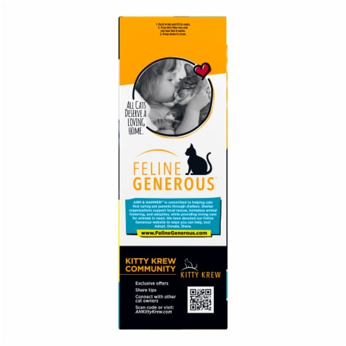 Arm & Hammer™ Clump & Seal AbsorbX Multi-Cat Unscented Litter Perspective: left