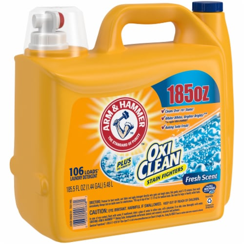 Arm & Hammer Plus Oxi Clean Fresh Scent Liquid Laundry Detergent Perspective: left