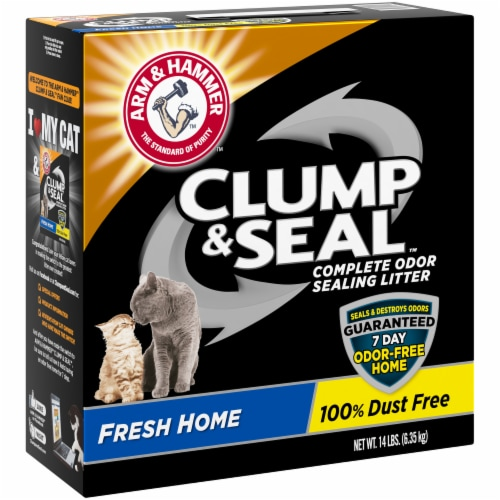 Arm & Hammer Clump & Seal Fresh Home Cat Litter Perspective: left