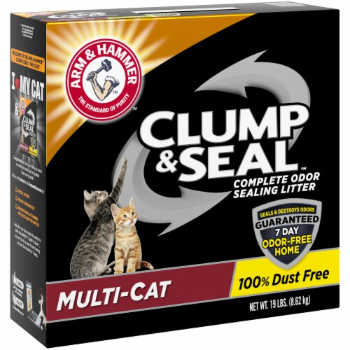Arm & Hammer Clump & Seal Multi Cat Complete Odor Sealing Litter Perspective: left