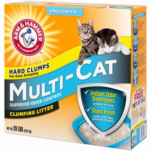 Arm & Hammer Multi Cat Unscented Clumping Litter Perspective: left