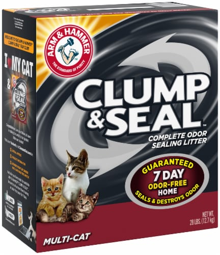 Arm & Hammer Clump & Seal Multi-Cat Complete Odor Sealing Cat Litter Perspective: left