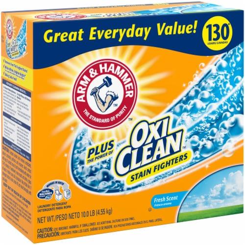 Arm & Hammer Plus Oxi Clean Fresh Scent Laundry Detergent Perspective: left