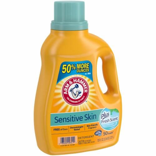 Arm & Hammer Sensitive Skin Plus Fresh Scent Liquid Laundry Detergent Perspective: left