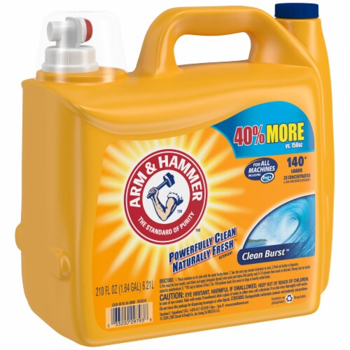 Arm & Hammer Clean Burst Liquid Laundry Detergent Perspective: left