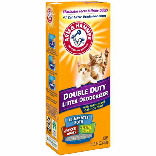 Arm & Hammer Double Duty Cat Litter Deodorizer with Advanced Odor Control Perspective: left
