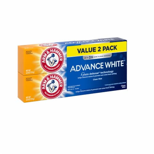 Arm & Hammer Advance White Extreme Whitening Clean Mint Toothpaste Twin Pack Perspective: left