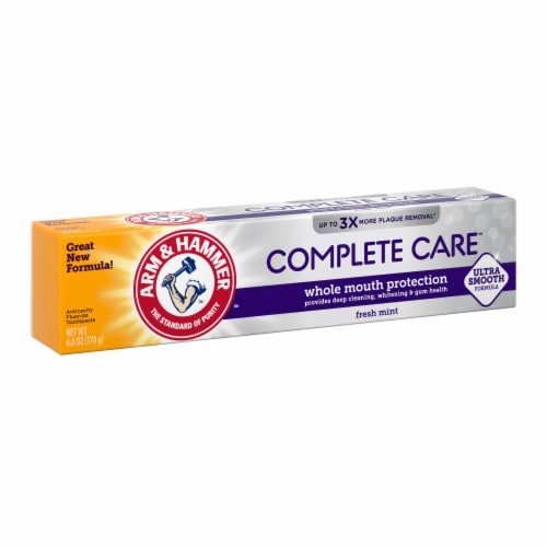 Arm & Hammer CompleteCare Fresh Mint Fluoride Anticavity Toothpaste Perspective: left