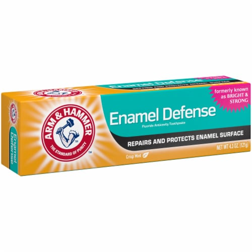 Arm & Hammer Bright & Strong Truly Radiant Crisp Mint Whitening Toothpaste Perspective: left