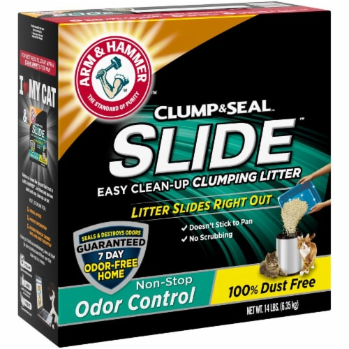 Arm & Hammer Slide Easy Clean-Up Non-Stop Odor Control Clumping Cat Litter Perspective: left