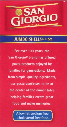 San Giorgio Jumbo Shells Pasta Perspective: left