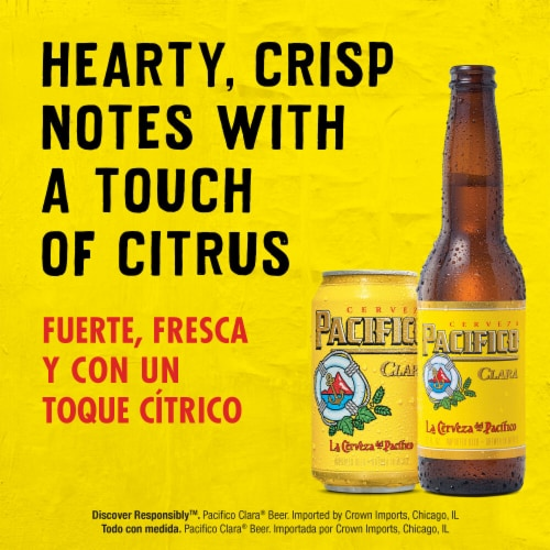 Pacifico Clara Mexican Lager Beer Perspective: left