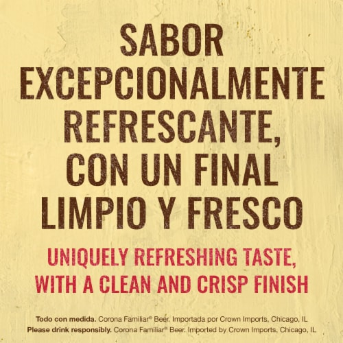 Corona Familiar Lager Beer Perspective: left