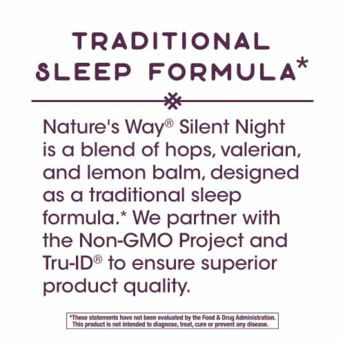 Nature's Way Silent Night with Valerian Capsules Perspective: left