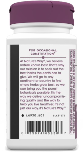 Nature's Way® Naturalax 3 with Aloe Vera Capsules Perspective: left