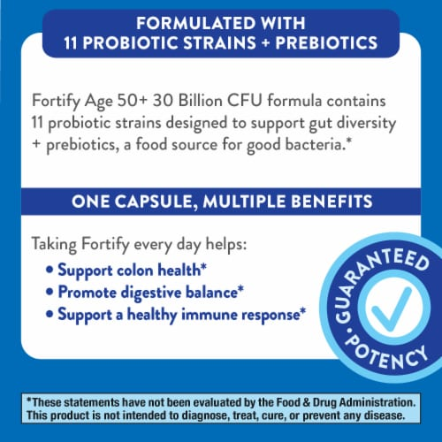 Nature's Way Everyday Care Probiotics 50+ Capsules Perspective: left