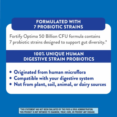 Nature's Way Women's Fortify Optima Probiotic Supplement Vegetarian Capsules Perspective: left