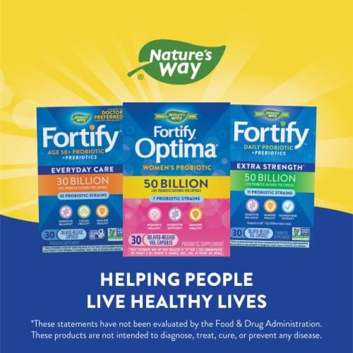 Nature's Way Women's Fortify Optima Probiotic Supplement Vegetarian Capsules Perspective: left