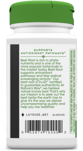 Nature's Way Beet Root Capsules 500mg Perspective: left